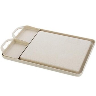 ZH creative and thick-cut fruit household plastic anti-skid cutting board(white) - intl