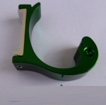 ZH Four creative space aluminum color dolphin type hanger hook(green) - intl
