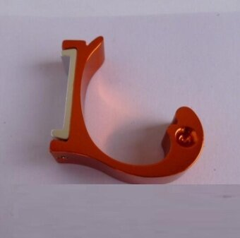ZH Four creative space aluminum color dolphin type hanger hook(red) - intl