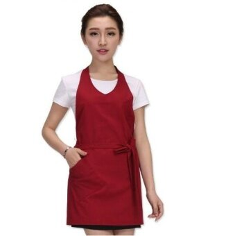 ZH women's fashion cafe milk tea kitchen pure cotton waiters working apron(coffee) - intl