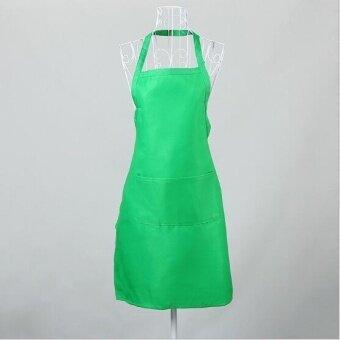 ZH women's stylish breathable kitchen apron(green) - intl