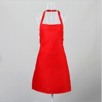 ZH women's stylish breathable kitchen apron(red) - intl