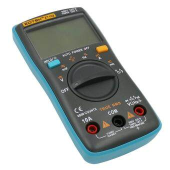 ... ZOTEK ZT102 Auto Digital Multimeter 6000 Counts Backlight AC/DCTransform Ohm Ammeter Resistance Capacitance Temperature ...