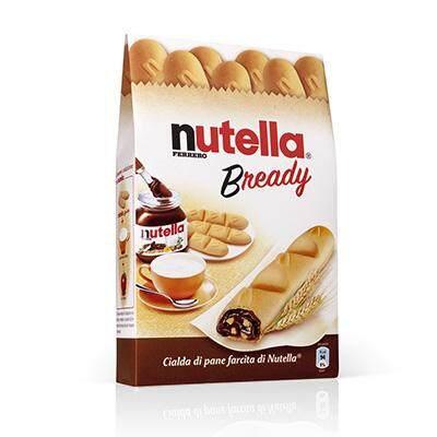 เก็บเงินปลายทางได้ ล็อตผลิตใหม่ล่าสุด ส่งด่วนทันใจโดย KERRY 1 กล่อง Nutella B-Ready เวเฟอร์อบกรอบสอดไส้นูเทลล่า 1 กล่อง มี 4 ชิ้น ติดใจ๊ ติดใจหยุดไม่ได้(อร่อยสุดๆไม่เหมือนใคร)