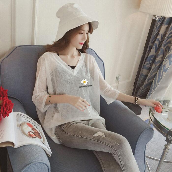 Ann840 2020New! (ชุดเซต มีชั้นใน) เสื้อสาวอวบ ไซส์ใหญ่ คอวีแขนสั้น เสื้อกล้ามและเสื้อสายเดี่ยว แฟชั่นผู้หญิงสไตล์เกาหลี เนื้อผ้าดีราคาถูก New Fashion women