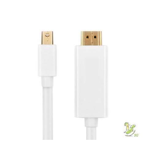 """สุดยอดสินค้า!! """"ส่งฟรี KERRY""""SU ❤ 6 ft 1.8 M 4 K * 2K Thunderbolt Mini Displayport Display Port DP to HDMI สำหรับ Apple Macbook Pro Air"""