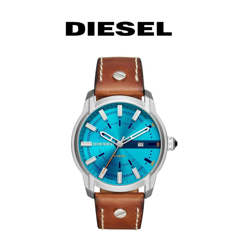 ยี่ห้อไหนดี  พังงา Diesel นาฬิกาข้อมือสุภาพบุรุษ รุ่น DZ1815 (สีน้ำตาล/สีฟ้า/สายหนัง)