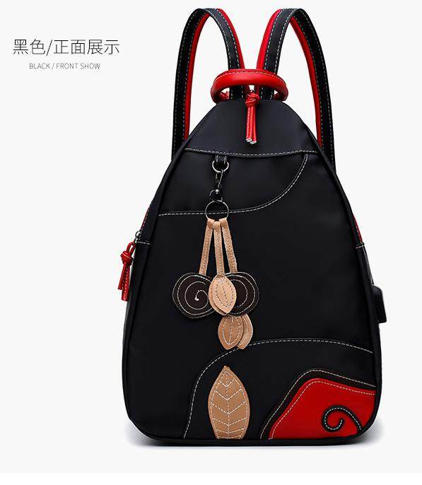 กระเป๋าถือ นักเรียน ผู้หญิง วัยรุ่น สุรินทร์ กระเป๋าเป้แฟชั่นเนื้อผ้าไนลอนกันน้่าน้ำหนักเบา มีช่องUSB สายเป้เป็นแบบซิบสามารถเปลียนเป็นกระเป๋าสะพายหน้า กระเป๋าสะพายหลัง กระเป๋าสะพายข้างซ้าย ขวาได้ตามใจชอบ กระเป๋ากันน้ำ  กระเป๋าเดินทางแฟชั่น