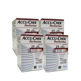 Accu-Chek Performa Test Strip แผ่นตรวจน้ำตาล 4 กล่อง 100 ชิ้น