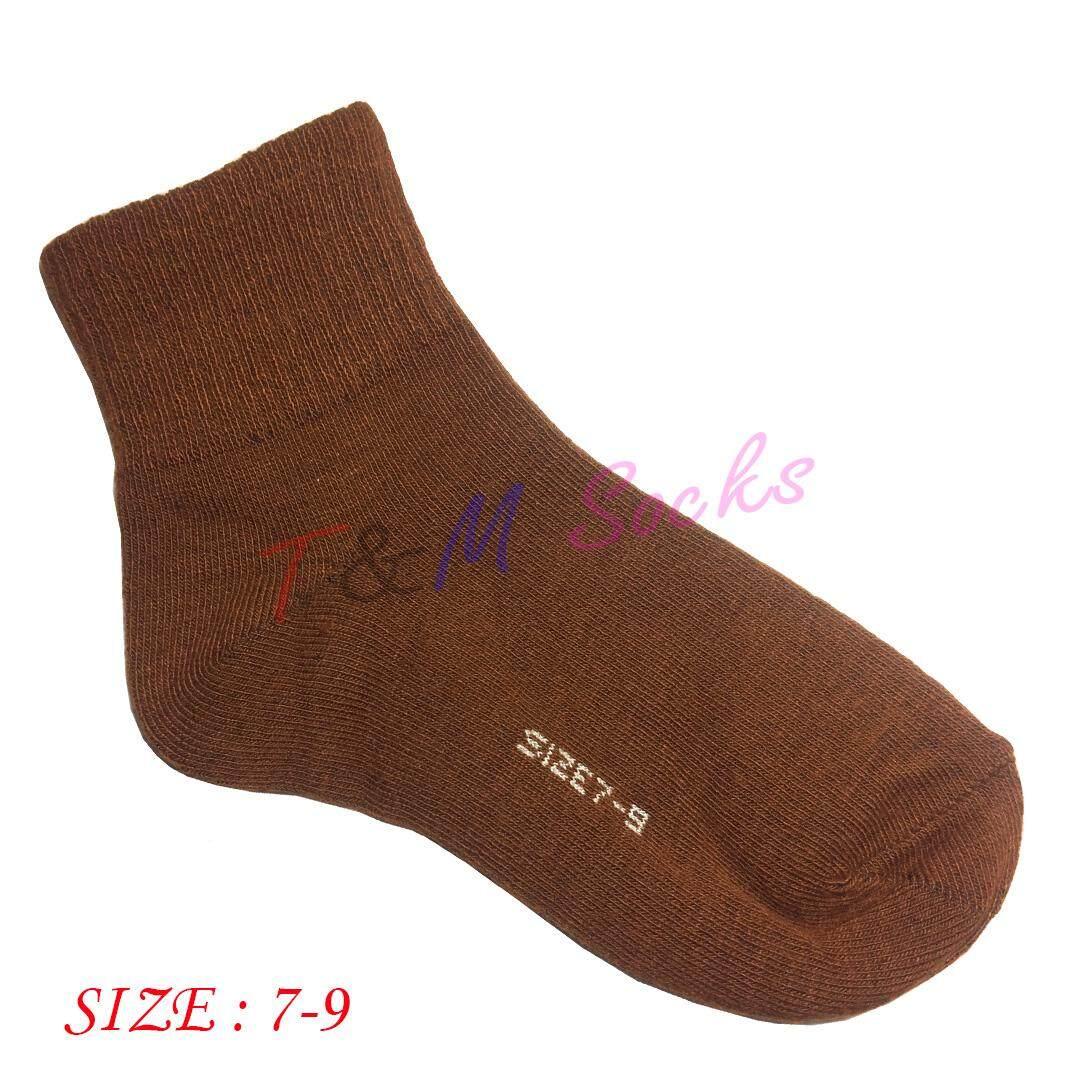 เก็บเงินปลายทางได้ T&M socks จัดส่งโดย Kerry ถุงเท้านักเรียน ผ้าหนา ไซส์ set 1 คู่