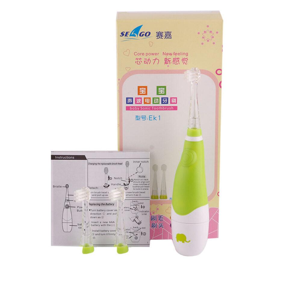 แปรงสีฟันไฟฟ้า รอยยิ้มขาวสดใสใน 1 สัปดาห์ ขอนแก่น SEAGOแปรงสีฟันไฟฟ้าแปรงสีฟันไฟฟ้าสำหรับเด็กแปรงสีฟันไฟฟ้าสำหรับเด็กอายุ 2 5 ปี Professional Seago Child Baby Kids Sonic Electric Toothbrush Intelligent Vibration With LED Light Smart Reminder For Baby