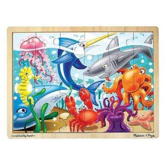 Melissa and Doug Wooden Sea Life Jigsaw Puzzle 24 Pcs (สัตว์ทะเล)