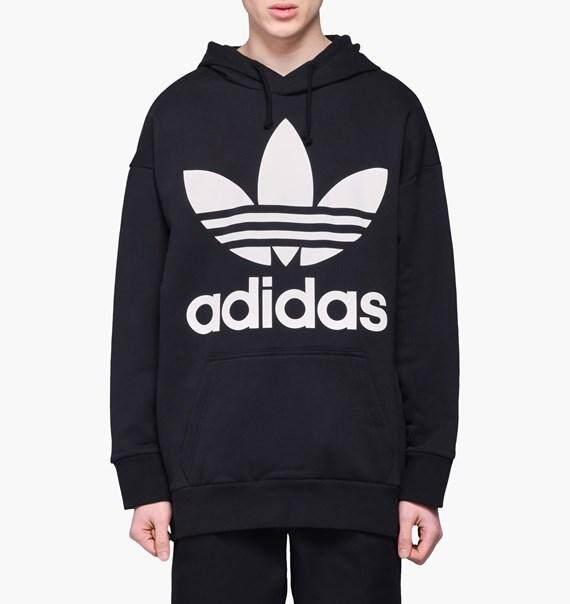 สุดยอดสินค้า!! modelb ลิขสิทธิ์แท้ 100% Adidas เสื้อฮู้ด ผู้ชาย อาดิดาส Trefoil Black Hoodie ใส่สบาย สินค้าลิขสิทธิ์แท้ ส่งไวด้วย kerry!!!!