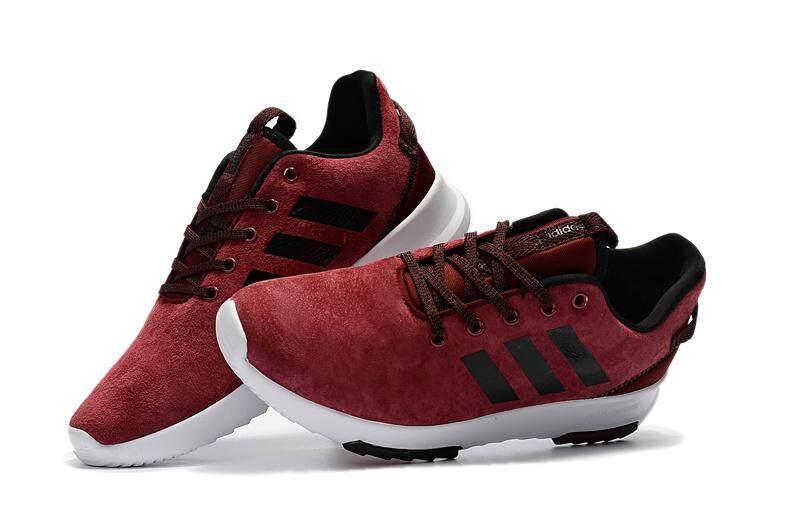 Adidas รองเท้าผ้าใบ ออกกำลังกาย ผู้หญิง อาดิดาส Cloudfoam Racer TR Suede Red Black รุ่นยอดนิยม ของแท้ 100% ส่งไวด้วย kerry!!!!