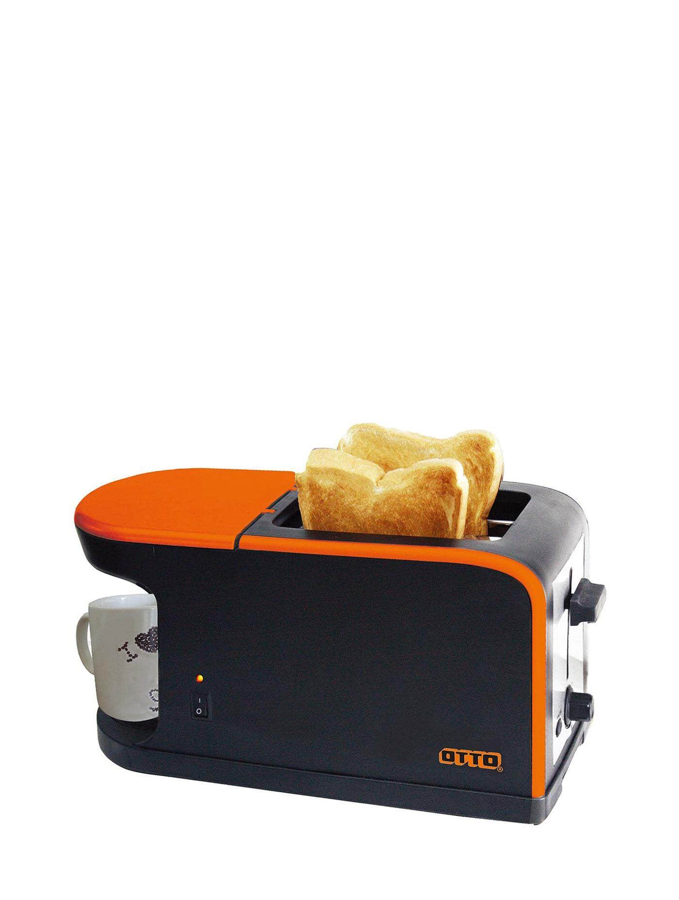 ยี่ห้อไหนดี  นครพนม OTTO Toaster and Coffee Maker Orange toasters sandwich makers