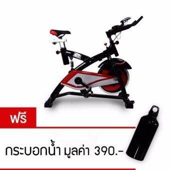 360 Ongsa Fitness จักรยานปั่นออกกำลังกาย SPIN BIKE 18 KG. AM-S2000T - ดำ/แดง (ฟรี กระบอกน้ำ)