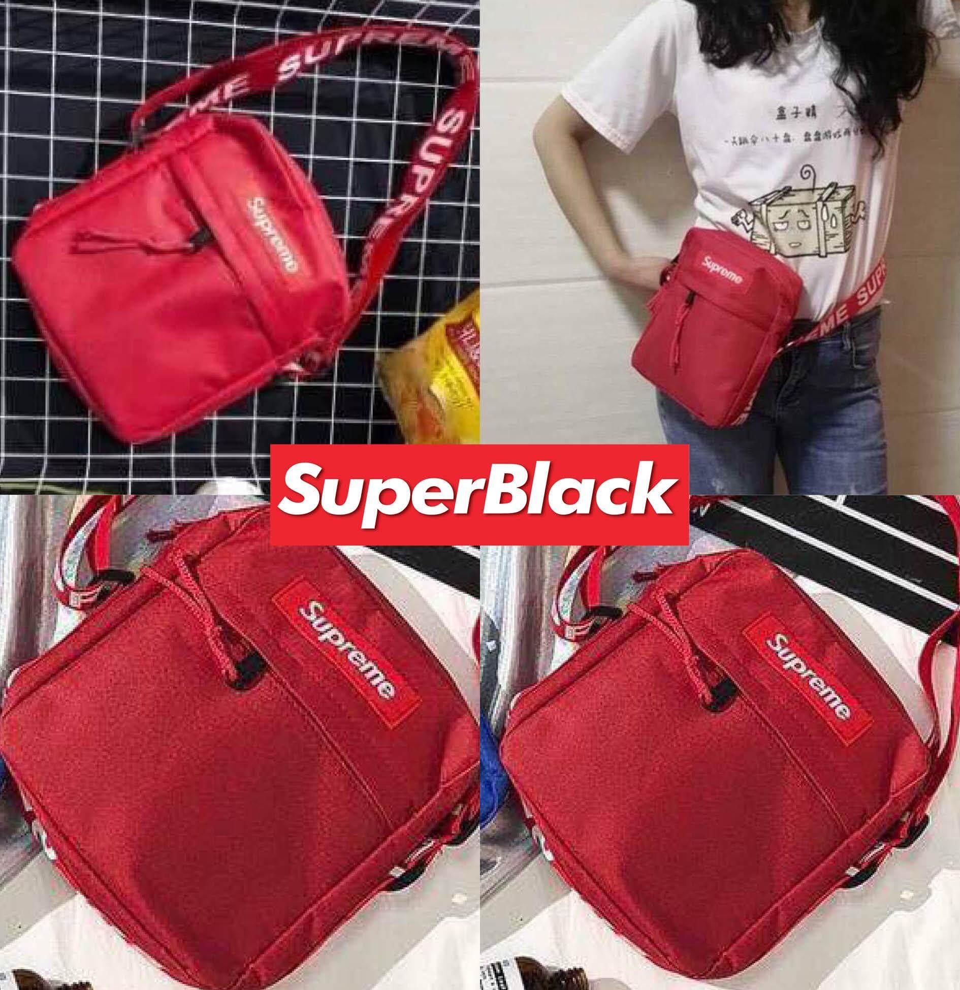 สุดยอดสินค้า!! กระเป๋าSupreme สะพายข้าง (สีแดง) *จัดส่งจากก.ท.ม ส่งฟรีKerryเก็บเงินปลายได้*