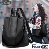 กระเป๋าเป้สะพายหลัง นักเรียน ผู้หญิง วัยรุ่น สระแก้ว EsoGoal กระเป๋าเป้สะพายหลังกระเป๋าผ้าไนล่อนขนาดเล็กลายกระเป๋าสะพาย Women Backpack Fashion Korean Style Travel Bag Casual Shoulder Bags Waterproof Oxford Cloth Bag with Pu Leather Strap