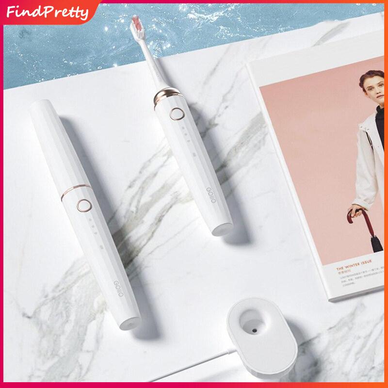 แปรงสีฟันไฟฟ้า รอยยิ้มขาวสดใสใน 1 สัปดาห์ สุโขทัย FindPretty แปรงสีฟันไฟฟ้าสำหรับผู้ใหญ่ แปรงสีฟันไฟฟ้าฟังก์ชั่นที่หลากหลาย แบบชาร์จ แปรงสีฟัน Electric Toothbrush Portable Wireless Toothbrush Inductive Charging Waterproof Electric Toothbrush For Smart Healthy Traveling Use