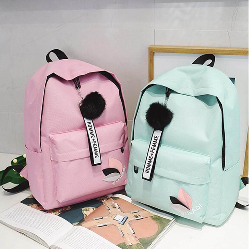 กระเป๋าถือ นักเรียน ผู้หญิง วัยรุ่น นครศรีธรรมราช กระเป๋าป้สีสันสวยน่ารักมีปอมๆสุดคิววว์ B603