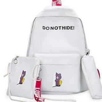 กระเป๋าสะพายพาดลำตัว นักเรียน ผู้หญิง วัยรุ่น ชัยภูมิ พร้อมส่งกระเป๋าเป้ สะพายหลัง เซต3ชิ้น กระเป๋าแฟชั่น GIC B222