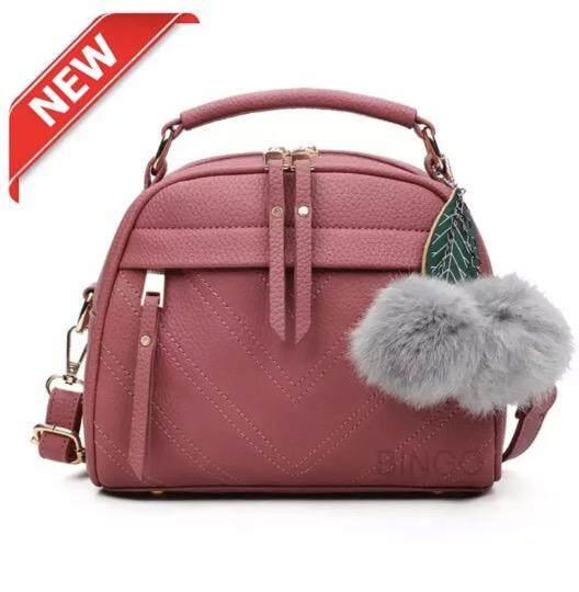 กระเป๋าถือ นักเรียน ผู้หญิง วัยรุ่น พะเยา miss bag fashion กระเป๋าถือพร้อมสายสะพาย รุ่น 128