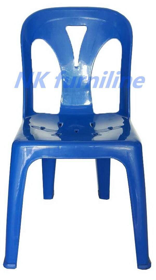 ยี่ห้อไหนดี  ชัยนาท NK Furniline เก้าอี้พลาสติก มีพนักพิง เกรดB+ รุ่น CPB/M - สีน้ำเงิน