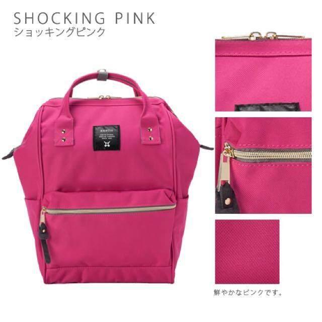 ภูเก็ต Anello Canvas shocking pink  (Standard) SIZE M สินค้าแท้จากญี่ปุ่น