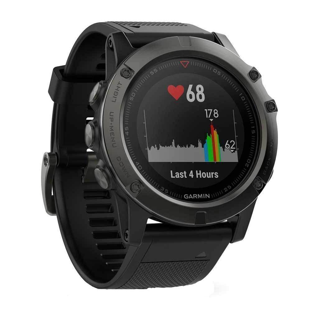 ยี่ห้อไหนดี  ยโสธร Garmin Fenix 5 GM-010-01733-10 Smart Digital Black Silicone Unisex Smartwatch