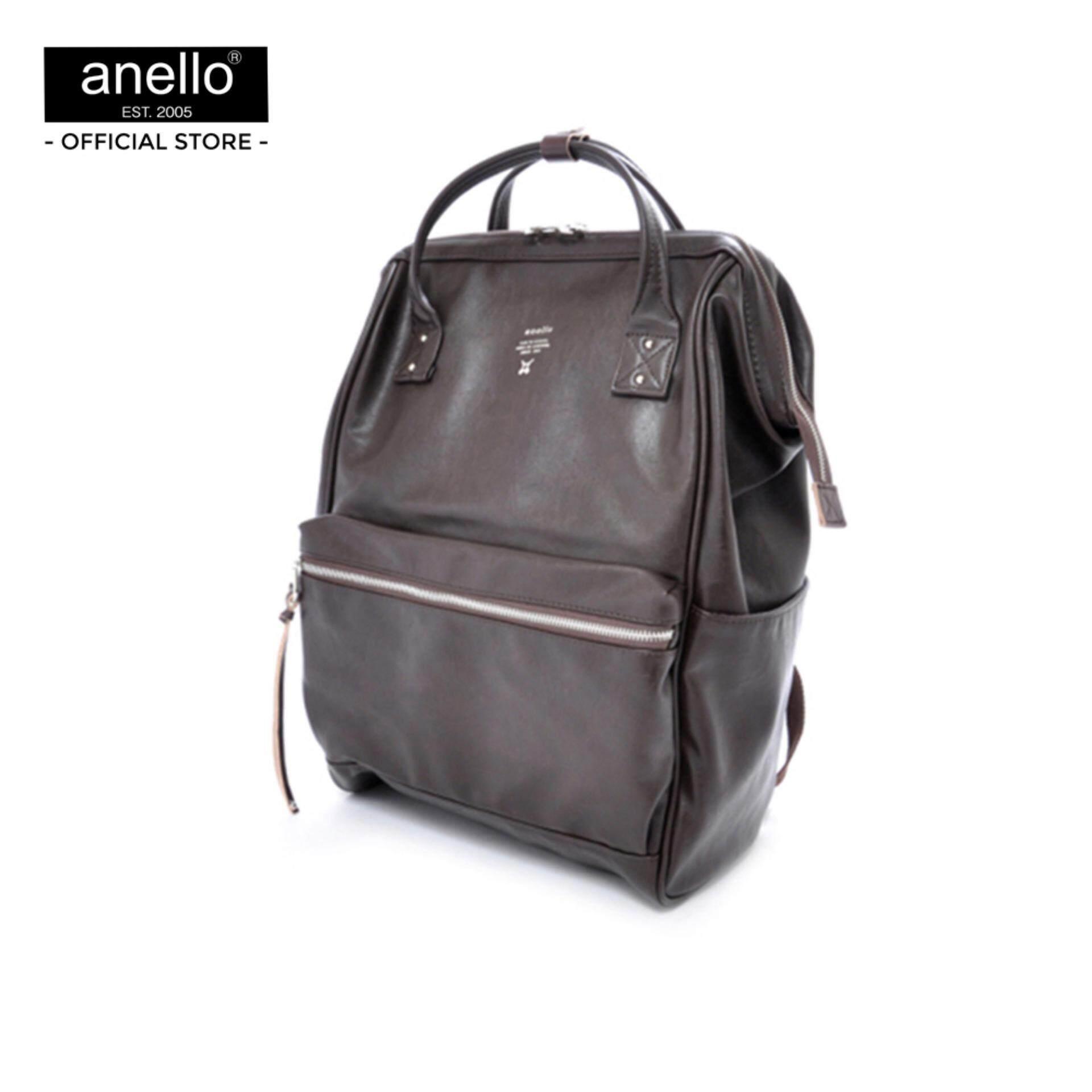 ยี่ห้อนี้ดีไหม  แม่ฮ่องสอน anello กระเป๋า Large Premium Leather Backpack_AT-B1511