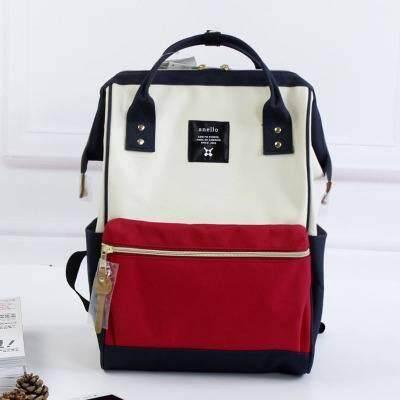 ยี่ห้อไหนดี  นราธิวาส Anello Regular Backpack ขาว-ดำ-แดง