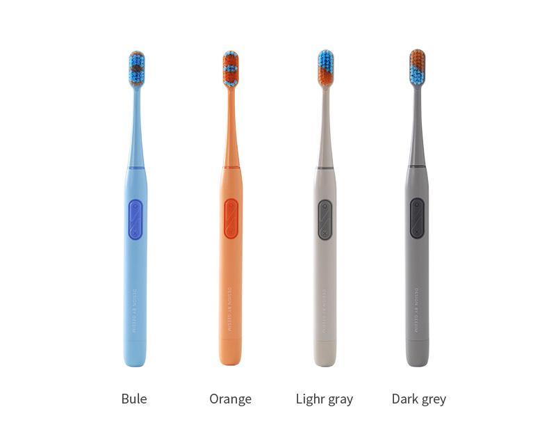 แปรงสีฟันไฟฟ้า รอยยิ้มขาวสดใสใน 1 สัปดาห์ สตูล geesim G02 Electric Toothbrushes Sonic Vibration แปรงฟันไฟฟ้า แปรงสีฟันไฟฟ้าแบบชาร์จได้ พร้อมหัวเปลี่ยน Ultrasonic Toothbrush 15 คะแนน สีส้ม  สีน้ำเงิน  สีเทา  สีเทาเข้ม