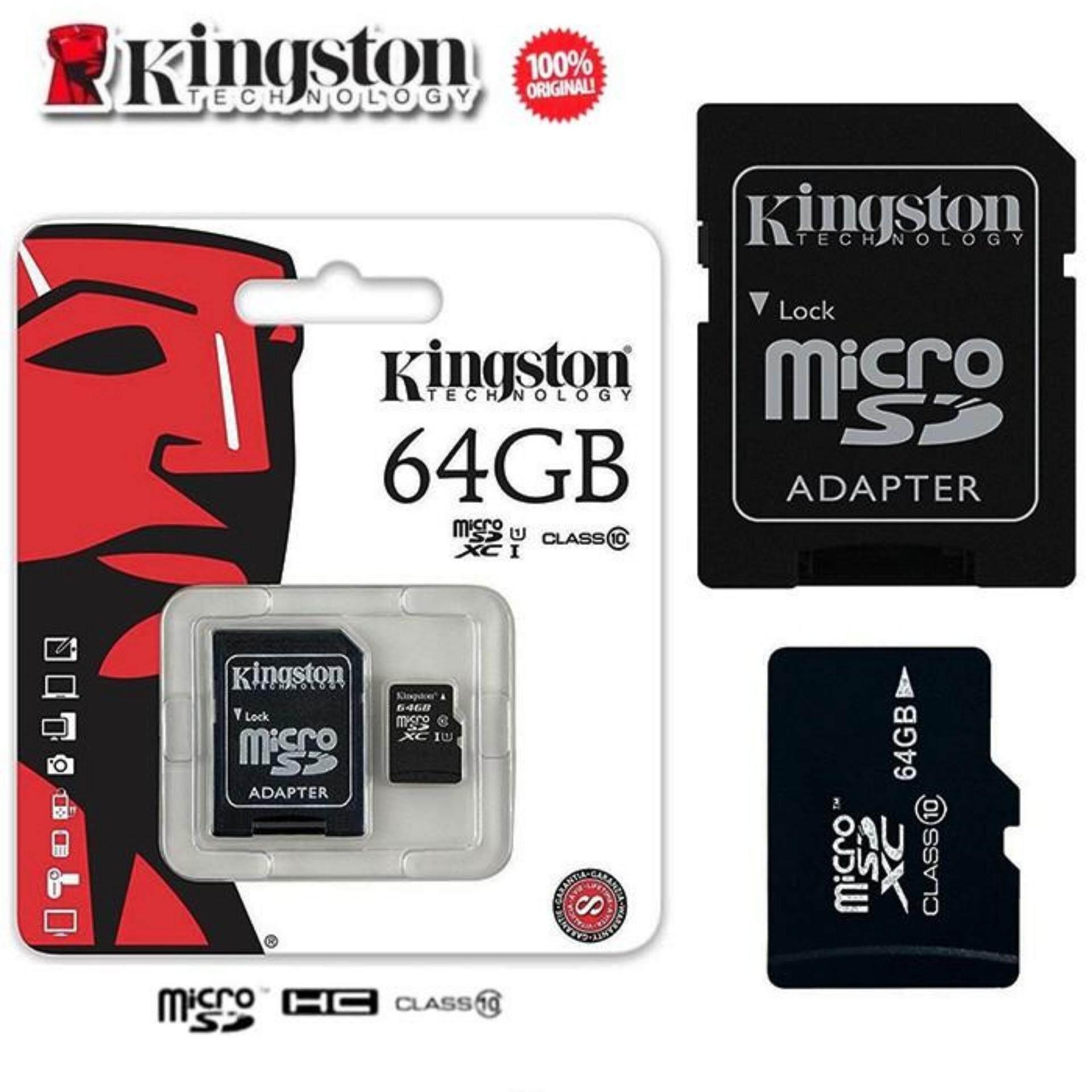 สุดยอดสินค้า!! SD Card Micro SDHC 64 GB Class 10 รับประกันของแท้ ฟรีค่าจัดส่ง Kerry Express ส่งด่วน