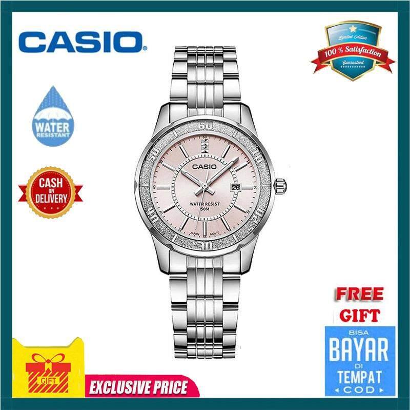 Casio LTP1358D-4A Women's Sprinkled Bezel Metal Fashion Dial Watch