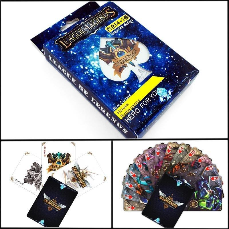 1 pack Hot Sale LOL League of Legend Playing Cards Poker Comics Character Hero Battle Cards - intl image
