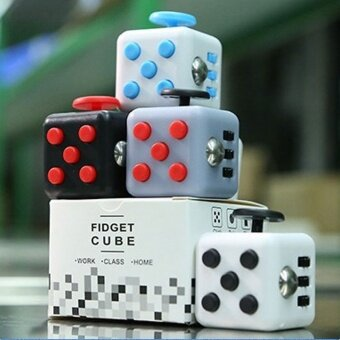 10 pcs Kfidget cube  pressure  anxiety artifact  decompression cube  decompression dice  creative gifts spot8# white blue - intl