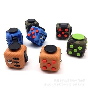 10 pcs Spot Fidget anti anxiety cube  FRET box  relieve pressure  decompression cube  decompression artifact  toy batchWhite and orange - intl