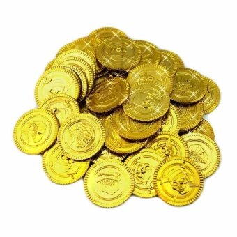 100pcs Plastic Treasure Coins At Pirate Parties Or In Scavenger Hunts Latest Intl 1505737755 51658344 300e66d35fdb0cf4d976c56111fccd46 Product