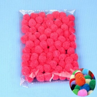 100PCS/Lot 20 Colors 15MM Multi Option Pompoms Soft Pom Poms Balls Wedding Decoration Peach - intl