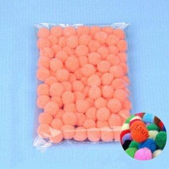100PCS/Lot 20 Colors 15MM Multi Option Pompoms Soft Pom Poms BallsWedding Decoration Shell Pink - intl