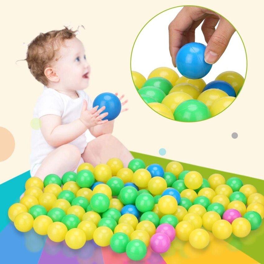 100pcs/set Soft Plastic Colorful Children Kids Secure Ocean Balls Baby Pits Swim Toys 4cm - intl