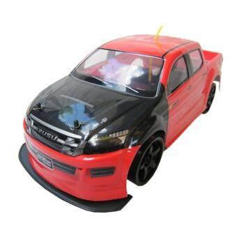 รถบังคับ รถบังคับดริฟรีโมทย์ รถกระบะ 1/10 วี-แม็ค แต่ง เทอร์โบ (สีแดง/ดำ)
