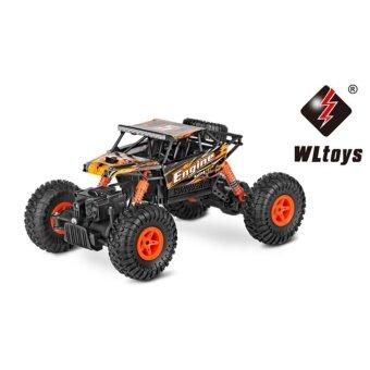 รถบังคับวิทยุวิบาก รถบังคับไฟฟ้า รถไต่หิน รถบักกี้ลุยทราย ขนาด 1:18 Rock Crawler 4WD 2.4ghz (สีแดง)
