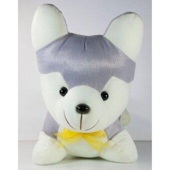 ตุ๊กตาหมาไซบีเรียน สีเทาขนาด 12 นิ้ว
