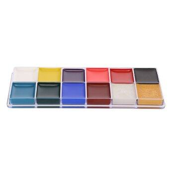 12 Colors Body Face Paint Oil Professional DIY Painting Make Up Kit For Halloween Party - intl