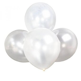 12 Inches Pearl Latex Metallic Balloons 100 Pack for Wedding Party / Christmas Party / Birthday / Anniversary Decor Supplies (White) - intl