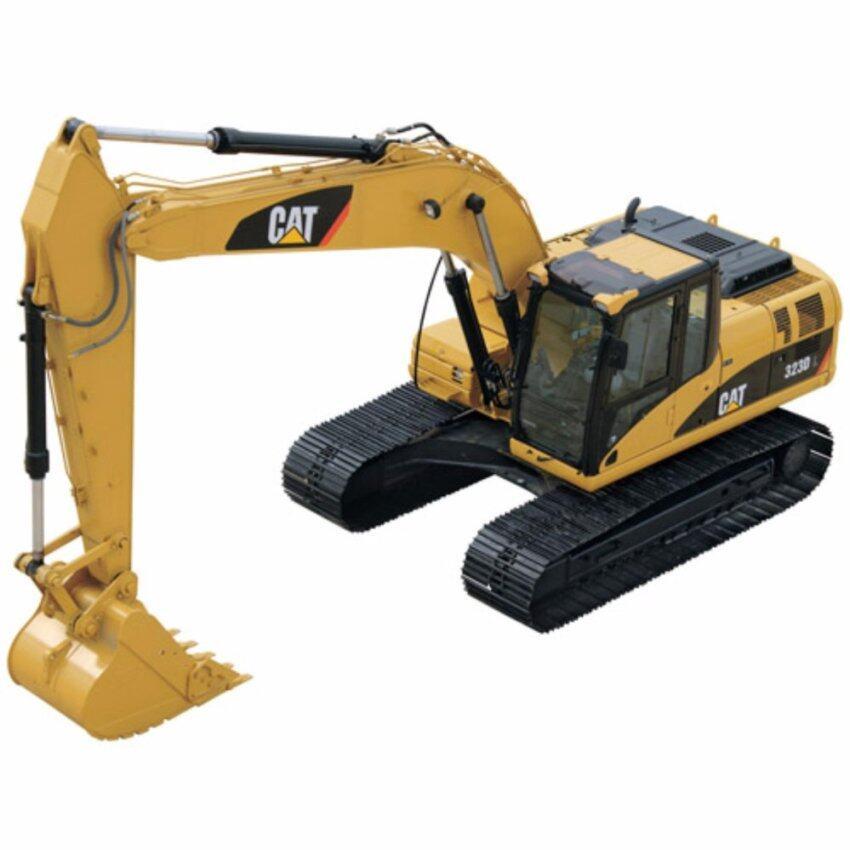 1:50 Original CAT 323D L 55215 Excavator Engineering Crawler Alloy Diecast Model Yellow Color - intl