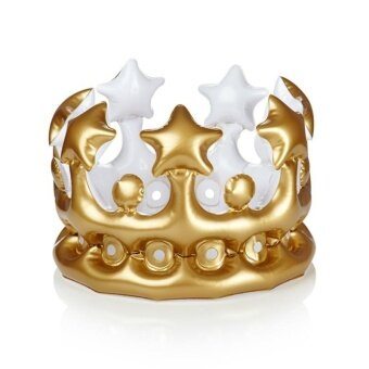 1pc Creative Inflatable Crown Kids Birthday Party Hats DIY InflatedCosplay balloon Tools Stage Props Kid Party Supplies - intl