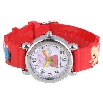 1Pcs Kids Children Fashion Cute Peppa Bracelet Quartz Wrist WatchAccess Set