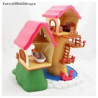 บ้านตุ๊กตา บ้านต้นไม้ พร้อมเฟอร์นิเจอร์ และตุ๊กตา 2 ตัว - 2